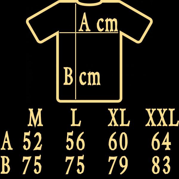 T shirt sizes M L XL XXL