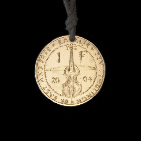 violin fyndling coin necklace