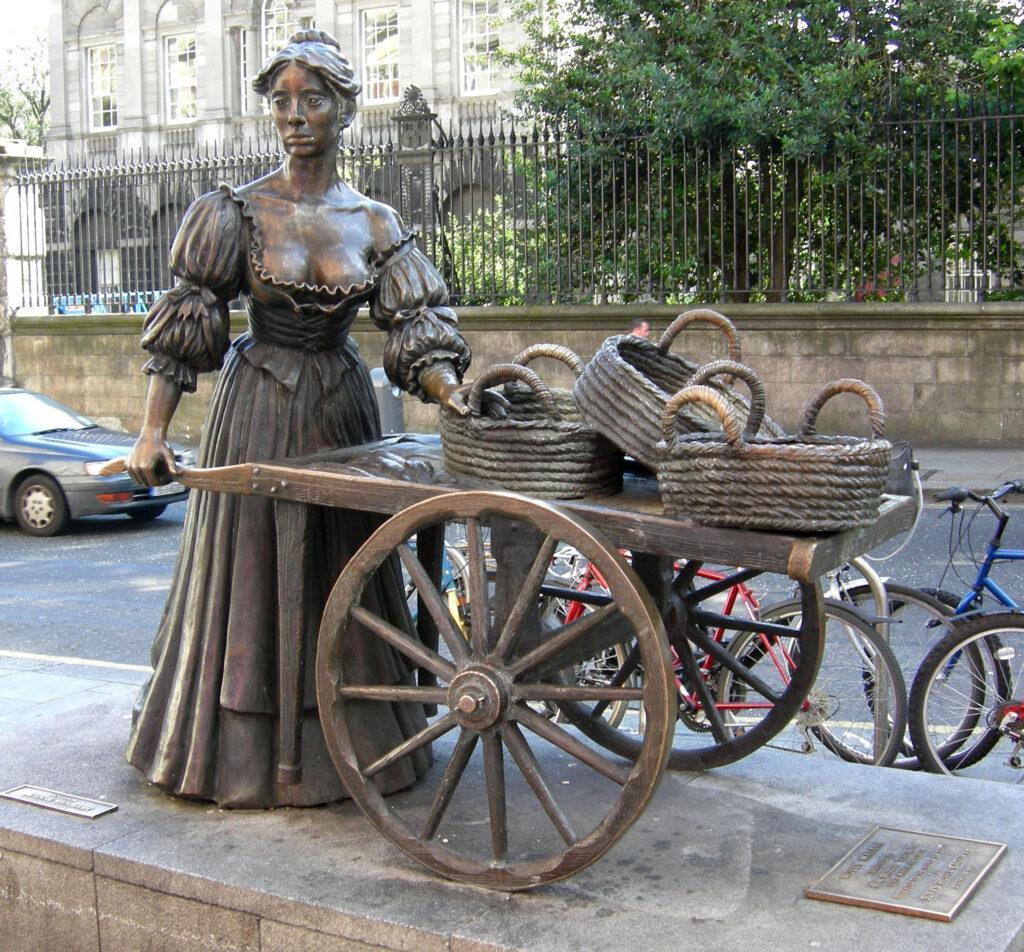 Statue representing Molly Malone in Dublin